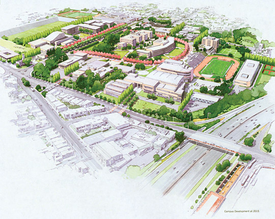 Conceptual rendering of City Colledge of San Francisco (CCSF Ocean Avenue Campus Master Plan, 2004)