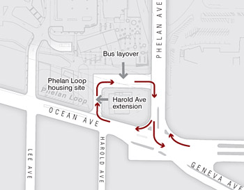 Reconfigured Phelan Bus Loop