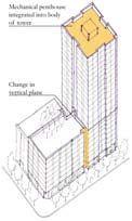 tower schematic orthagonal view